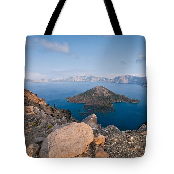 Crater Lake In The Evening Tote Bag