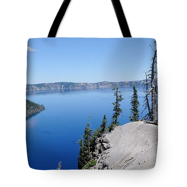 Crater Lake Scenic Panorama Tote Bag by John Kelly