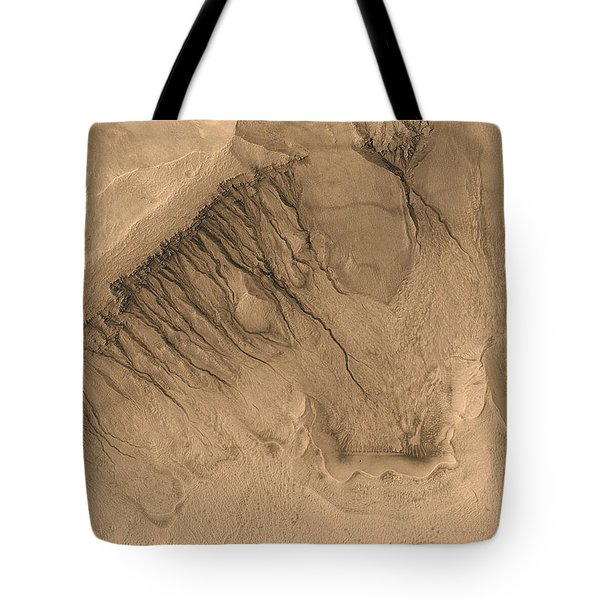 Crater On Mars Tote Bag