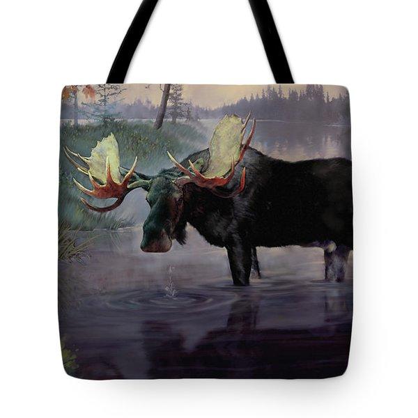 Craven Moose Tote Bag