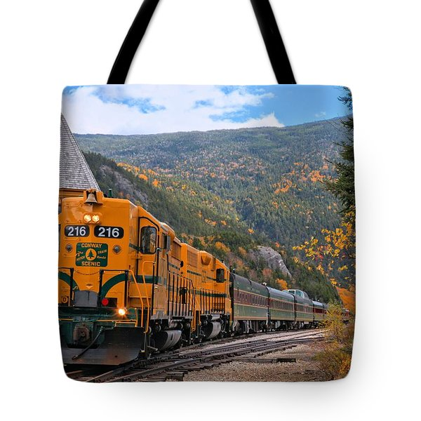 Crawford Notch Train Depot Tote Bag