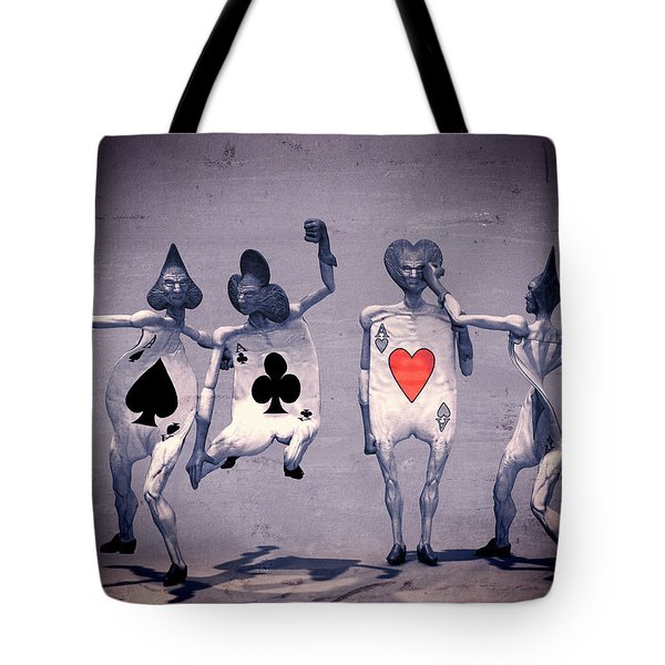 Tote Bag featuring the digital art Crazy Aces by Bob Orsillo