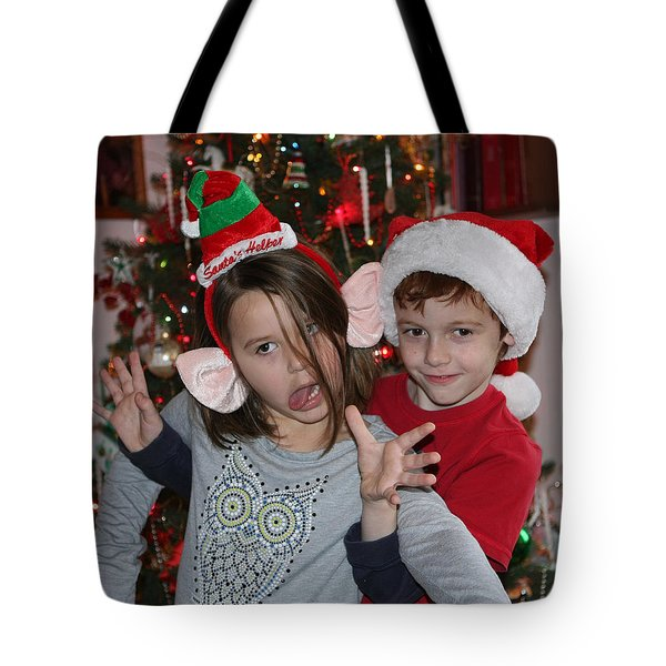 Crazy Christmas Tote Bag by Denise Romano