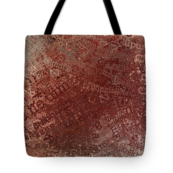 Crazy Grunge Type Abstract Tote Bag