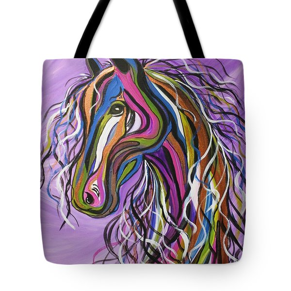 Tote Bag featuring the painting Crazy Horse by Janice Rae Pariza