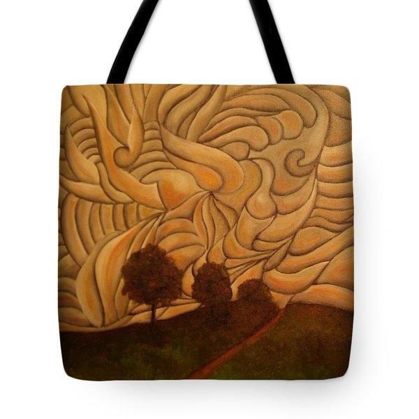Crazy Sky Tote Bag by John Stuart Webbstock