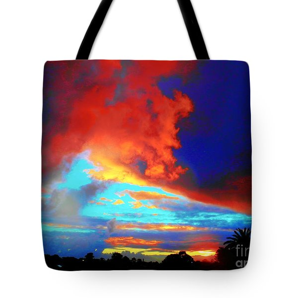 Tote Bag featuring the photograph Strange Sunset by Mark Blauhoefer
