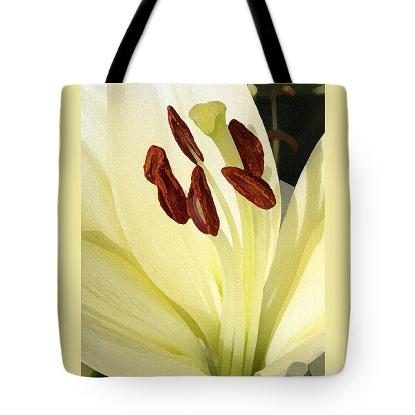 Tote Bag featuring the photograph Creamy And Dreamy - Digital Painting by Ellen Tully
