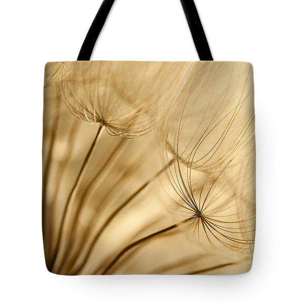 Creamy Dandelions Tote Bag