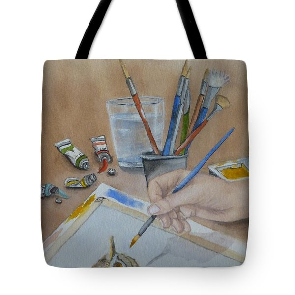 Creating A Watercolor Tote Bag by Kelly Mills