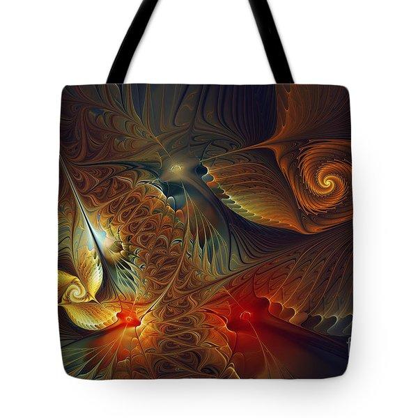 Creation-abstract Fractal Art Tote Bag