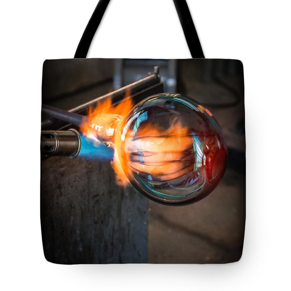 Creation At The Glass Blowers Bench Tote Bag