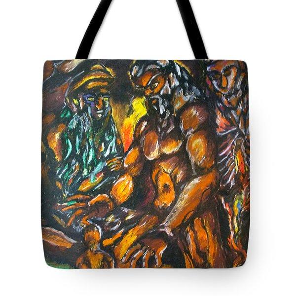 Tote Bag featuring the pastel Creation Creacion by Lazaro Hurtado