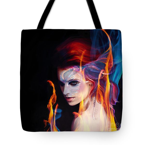 Creation Fire And Flow Tote Bag