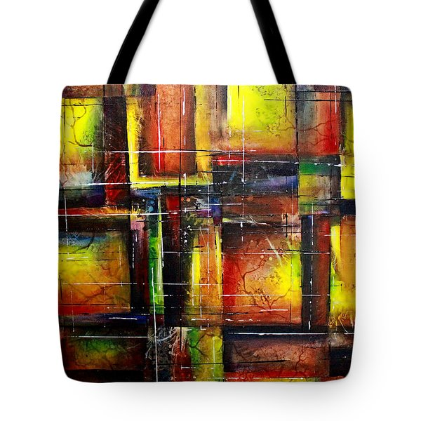 Tote Bag featuring the painting Creation by Patricia Lintner