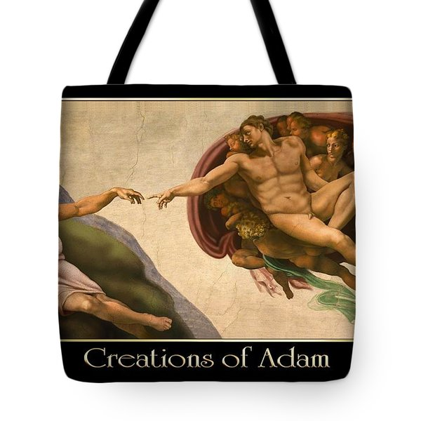 Creations Of Adam Tote Bag by Scott Ross