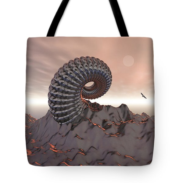 Creature Of The Mountain Tote Bag by Phil Perkins