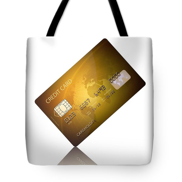 Credit Card Tote Bag by Johan Swanepoel