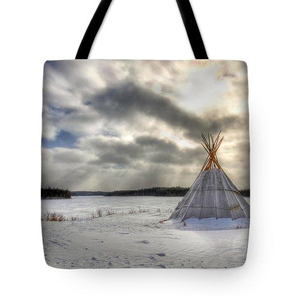 Cree Tepee Tote Bag