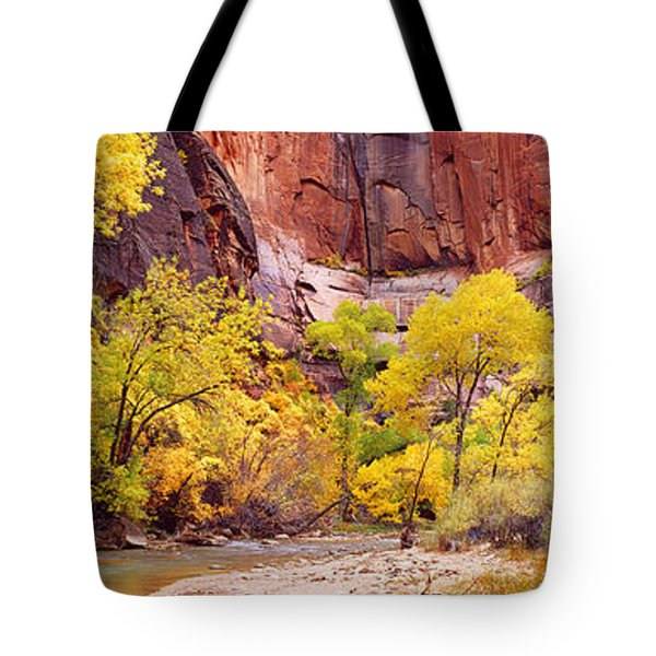 Creek At Sunset, Death Valley Tote Bag