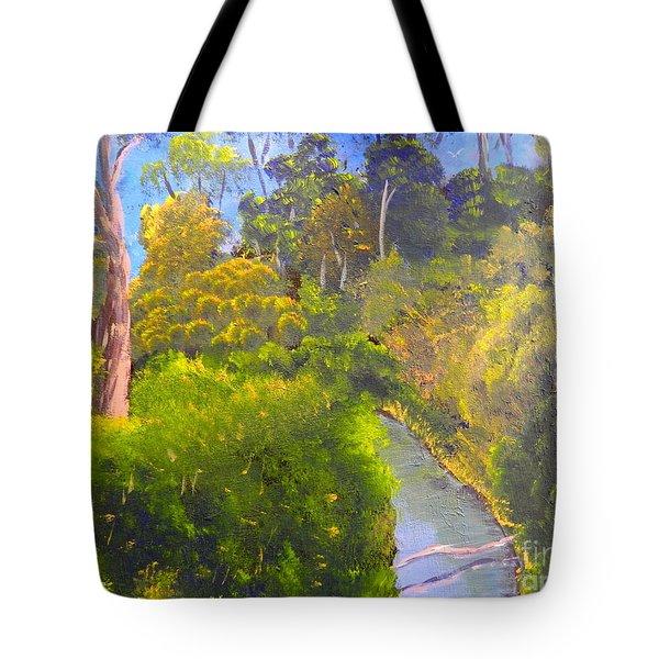 Creek In The Bush Tote Bag by Pamela  Meredith