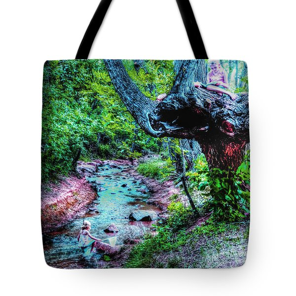 Tote Bag featuring the photograph Creek Time Enchantment by Lanita Williams