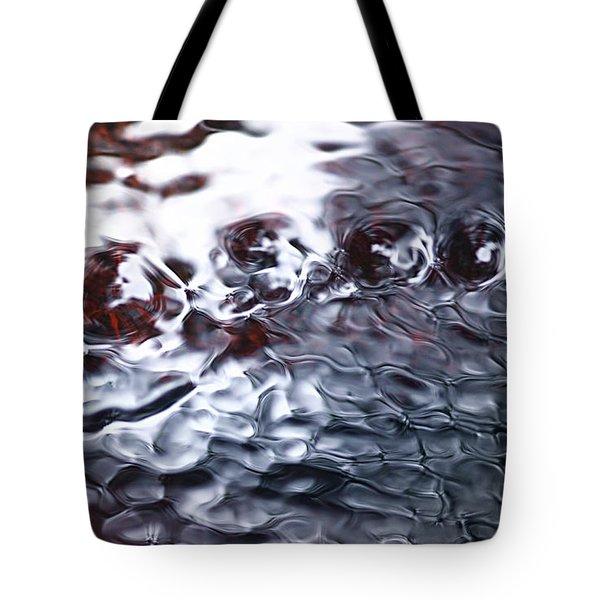 Creek Twirls Abstract Macro Tote Bag