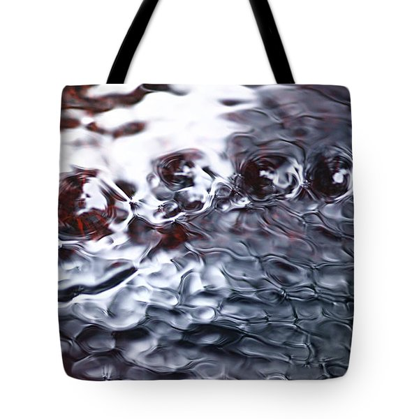 Creek Twirls Abstract Macro Tote Bag