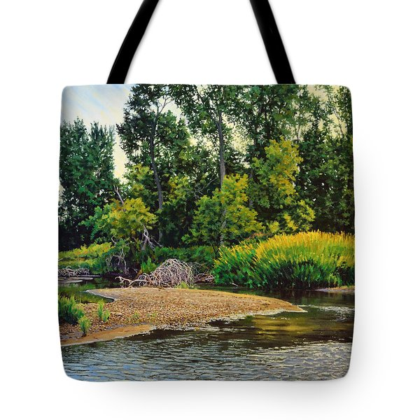 Creek's Bend Tote Bag