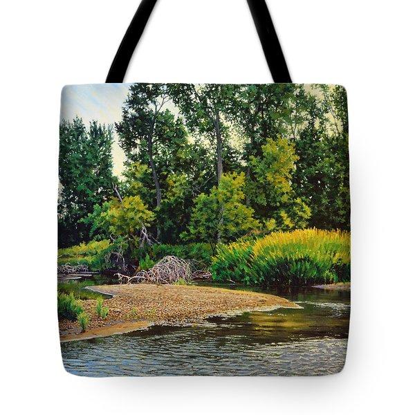 Creek's Bend Tote Bag