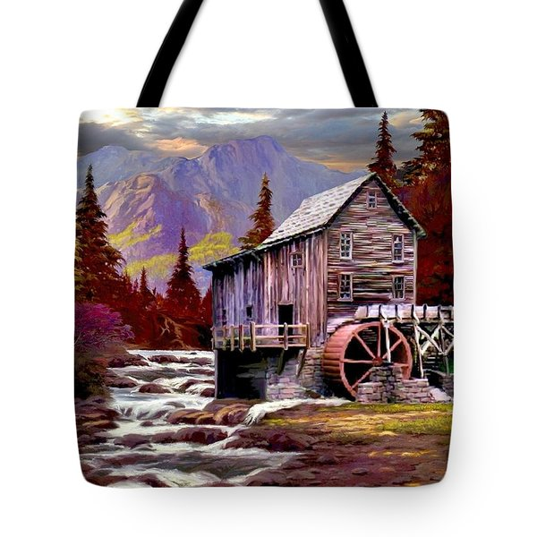 Creekside Mill Tote Bag by Ron Chambers