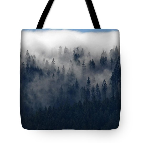 Creeping Clouds Tote Bag by Andy Crawford