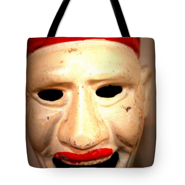 Tote Bag featuring the photograph Creepy Clown by Lynn Sprowl