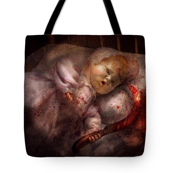 Creepy - Doll - Night Terrors Tote Bag by Mike Savad