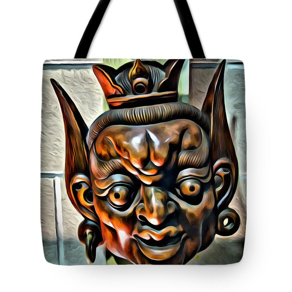 Creepy Mask Two Tote Bag by Alice Gipson