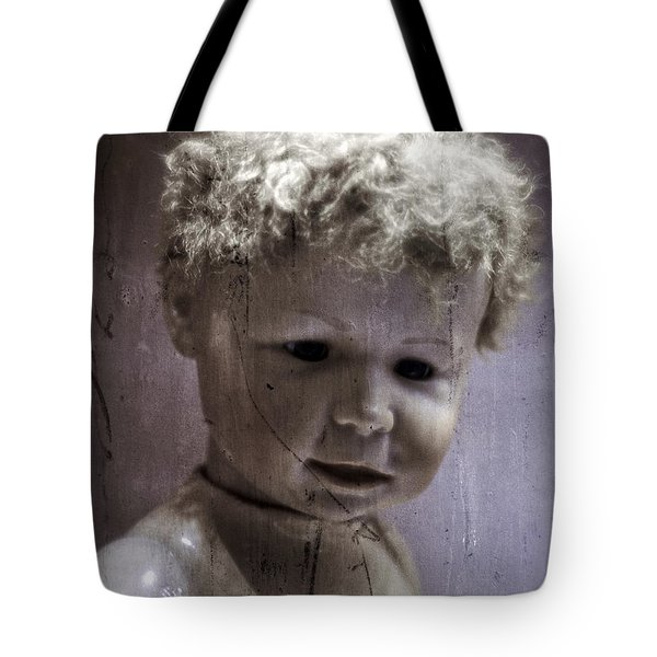 Creepy Old Doll Tote Bag by Edward Fielding