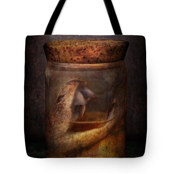 Creepy - Tonight We Eat Snake  Tote Bag by Mike Savad