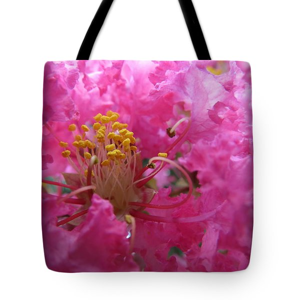 Crepe Myrtle In The Middle Tote Bag