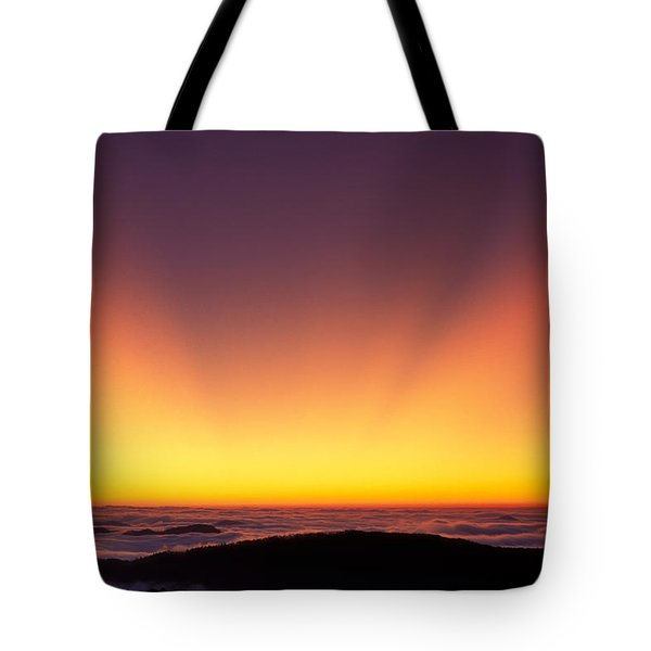 Crepuscular Rays In Nantahala National Forest Tote Bag