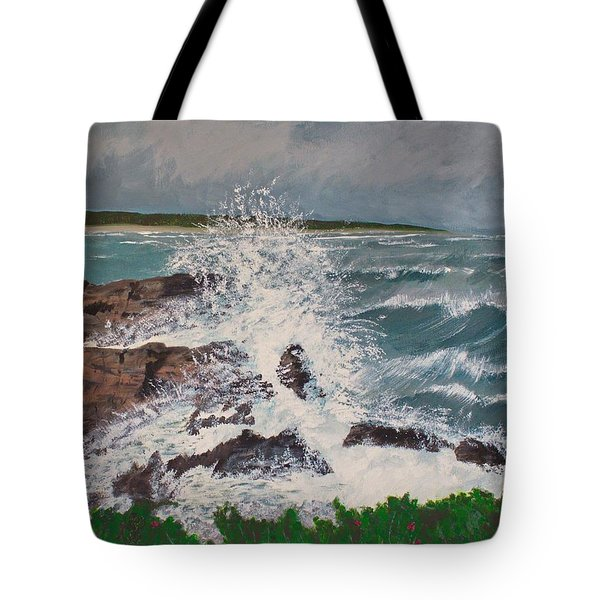 Tote Bag featuring the painting Crescendo by Cynthia Morgan