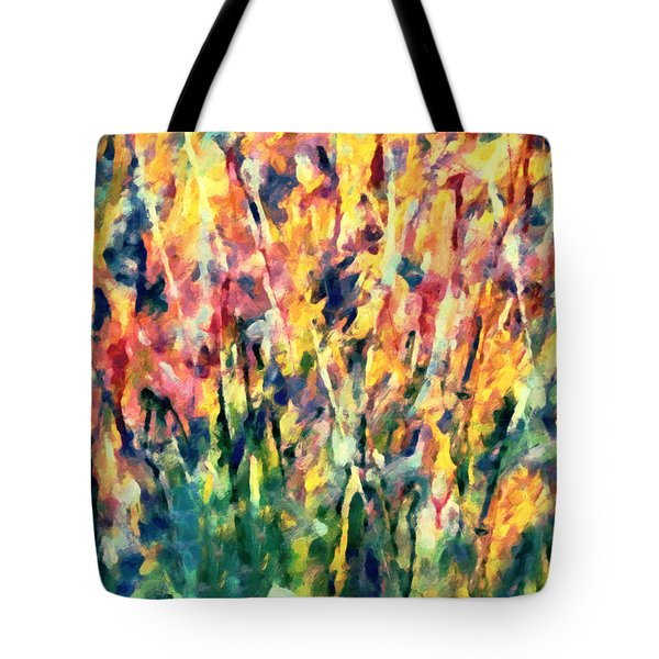 Crescendo Of Spring Abstract Tote Bag