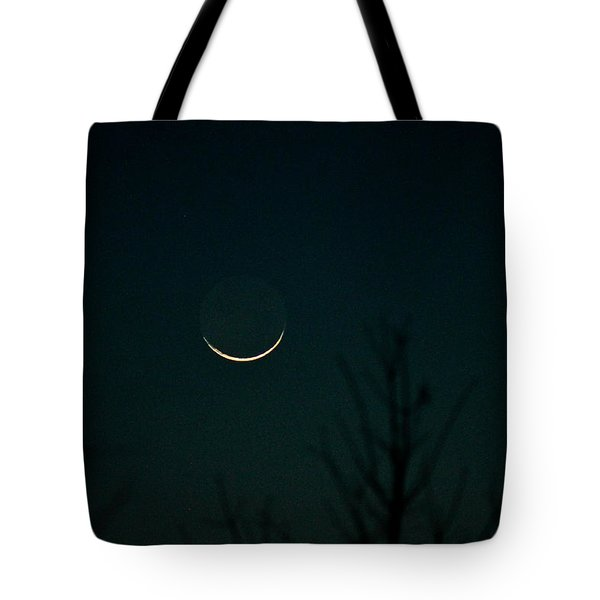 Crescent Moon Tote Bag by Jessica Brown