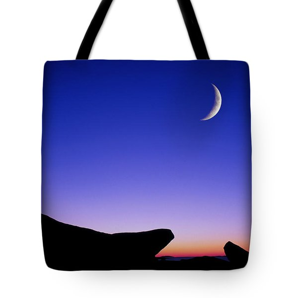 Tote Bag featuring the photograph Crescent Moon Halibut Pt. by Michael Hubley