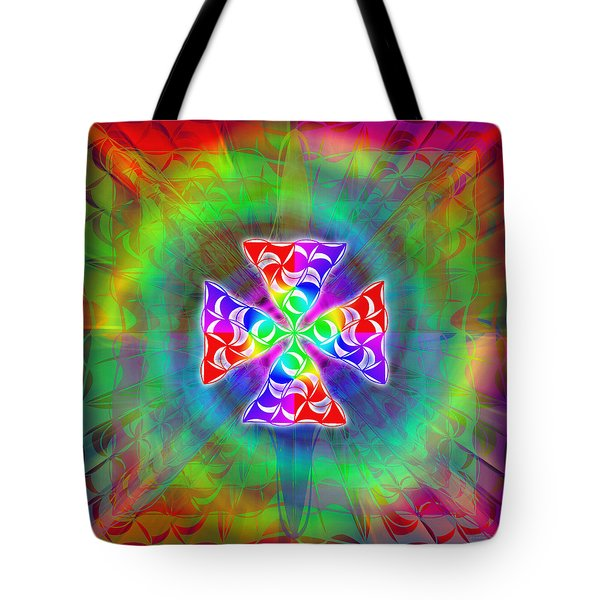 Tote Bag featuring the drawing Crescent Pyramids by Derek Gedney