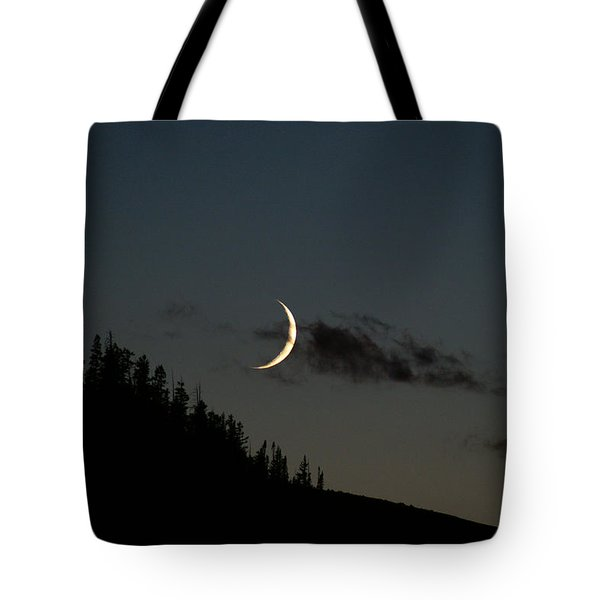 Tote Bag featuring the photograph Crescent Silhouette by Jeremy Rhoades