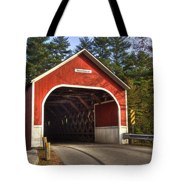 Cresson Covered Bridge 2 Tote Bag by Joann Vitali