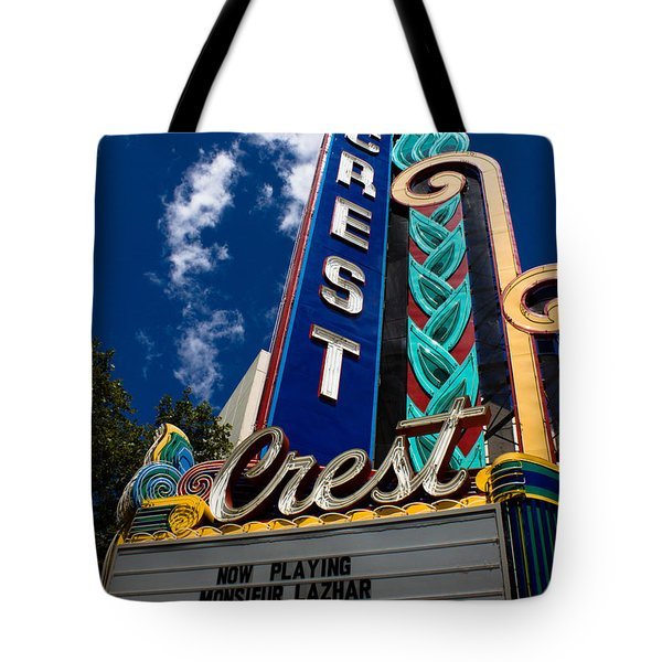 Crest Theater Tote Bag