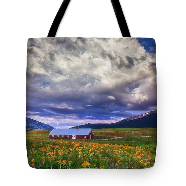 Crested Butte Morning Storm Tote Bag