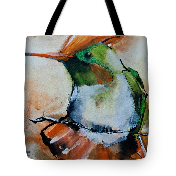 Crested Croquette Hummingbird Tote Bag