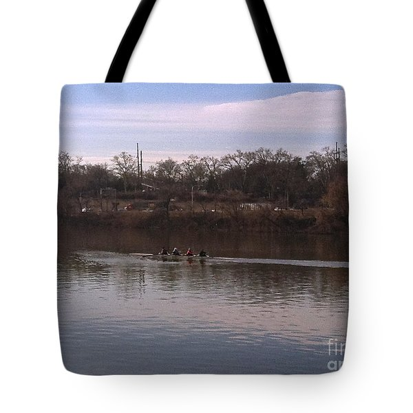 Crew On The Schuylkill - 1 Tote Bag